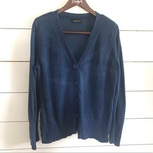 Lane Bryant Blue Cardigan Cable Knit